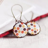 Retro polka dots earrings - vintage style jewelry - retro jewelry