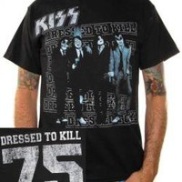 KISS, T-Shirt, Dressed To Kill 75