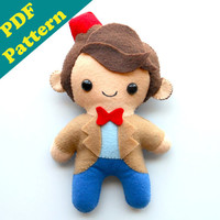 "PDF PATTERN - 9"" Human Plush Matt Smith Doctor Who (Digital Download)"