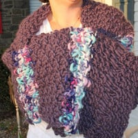 Hand Knit Shawl made of Super Soft Twinkle Designer by bpenatzer