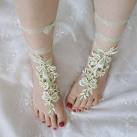beach shoes, beach fashion, bridal sandals, mint lariat sandals, wedding bridal, barefoot sandles, shoe accessory, wedding shoes