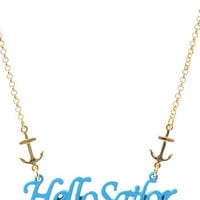 Hello Sailor Necklace