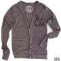 Unisex Ampersand &amp; Bird Tri-Blend Coffee Cardigan - American apparel XS S M L