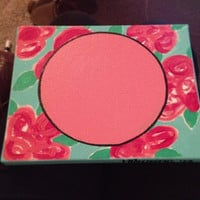 Lilly Pulitzer inspired monogrammed painting