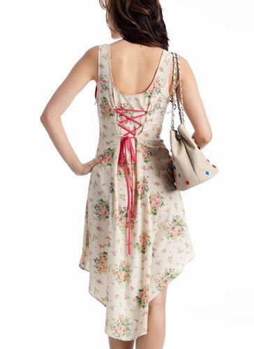 high-low floral tank dress $36.30 in CREAM GREEN - Casual | GoJane.com