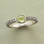 ORGANIC PERIDOT RING