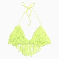 L*Space - Women&#x27;s Audrey Fringe Halter Top (Citrus)