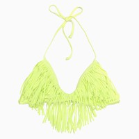 L*Space - Women's Audrey Fringe Halter Top (Citrus)