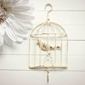 shabby chic bird cage decor bird cage from willows grace. Black Bedroom Furniture Sets. Home Design Ideas