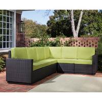 Riviera Green Apple Six Seat Sectional | Overstock.com