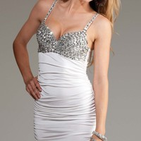 Barham Sexy Clubwear - Mini dress with sequin bra top