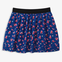 Polka Dot Floral Skirt