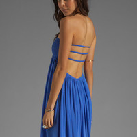 Indah Flamingo Smocked Bandeau Maxi Dress in Violet from REVOLVEclothing.com