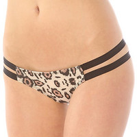 The Beach Riot Bathing Suit Porter Bikini in Leopard