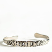Rock On Word Cuff By Jens Pirate Booty - $48.00 : ThreadSence, Women&#x27;s Indie &amp; Bohemian Clothing, Dresses, &amp; Accessories