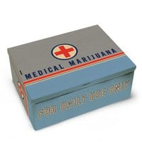 Medical Marijuana Tin Cigar Box