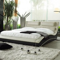 Napoli Modern Platform Bed Cream/black