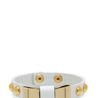 faux-leather-metal-bow-bracelet MINTGOLD WHITEGOLD - GoJane.com