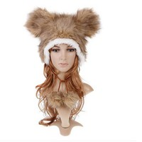Wild Side Furrocious Bear Plush Hat