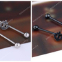14G Stainless Steel Long Industrial Bar Ear Cartilage Barbell Body Piercing