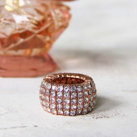 Aglow Rose Gold Ring, Sweet Bohemian Jewelry