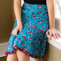 Ruffle skirt teal - Skirts - Clothing - Shop