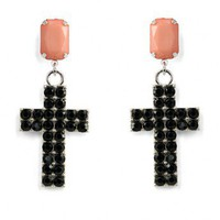 Beads Cross Earrings