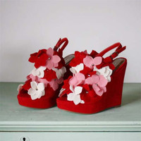Cupid&#x27;s Bow Wedges, Sweet Country Inspired Shoes
