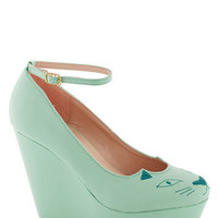 You&#x27;re Kitten Me Wedge | Mod Retro Vintage Wedges | ModCloth.com