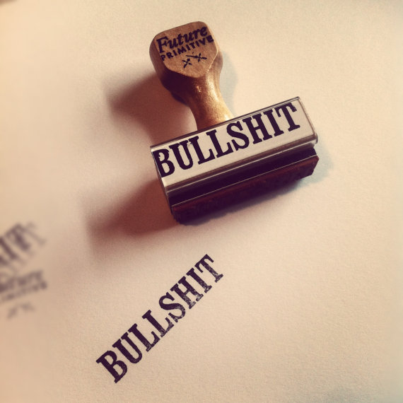 $12.00 BULLSHIT // Rubber Stamp by thefutureprimitive on Etsy