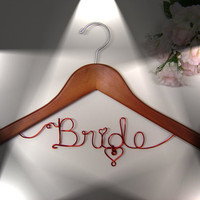 Red wire Bridal Hanger by LoriLynns on Etsy