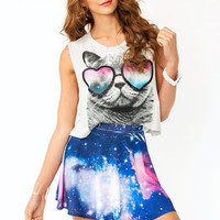 glitter-sunglasses-graphic-cat-tank BONE - GoJane.com