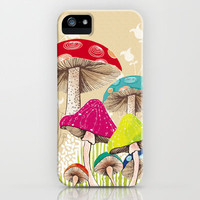 Magical Mushrooms iPhone & iPod Case by Amanda Dilworth