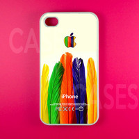 Colorful Feather Iphone 4 Case, Iphone 4s Case, Iphone Case