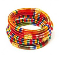 Kavita Silk Bangle Set - INDIAN BAZAAR Kavita Silk Bangle Set