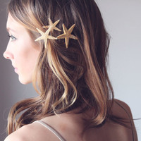 SANDY -  Starfish Pins, Destination Wedding Accessories, Starfish Hair Accessories, Beach Hair Accessories, Mermaid Hair Accessories