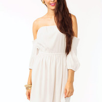off-the-shoulder-dress BONE CORAL - GoJane.com