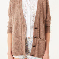 Knitted Angora Cable Cardi - New In This Week - New In - Topshop USA