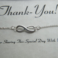 Bridesmaid Gift, Wedding Party Gifts, Infinity Bracelet, Personalized Gifts