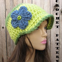 CROCHET PATTERN!!! Crochet Hat - Newsboy Hat, Crochet Pattern PDF,Easy, Great for Beginners, Pattern No. 29