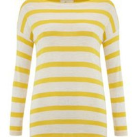 Ladies Boatneck Stripe Jersey Top