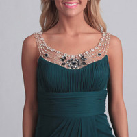 Adrianna Papell Women's Forest Pearl Necklace Formal Dress | Overstock.com