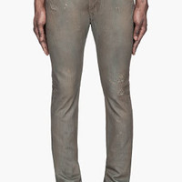 Diesel Bronze Coated Thavar L.32 Jeans for men | SSENSE