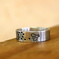 Sterling Silver Bee Ring | monkeysalwayslook - Jewelry on ArtFire