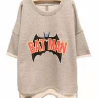 Buy Batman Free Style Cutton Hoodie/Tshirt For Women on Shoply.