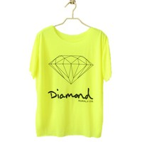Buy Fluorescent Color Diamond Tshirt on Shoply.
