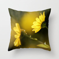 Yellow spring Throw Pillow by Guido Montañés
