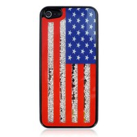 US Flag Case with Rhinestones Inside for iPhone 5
