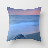 Hidden stone at sunset Throw Pillow by Guido Montañés
