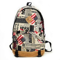 The American flag large nylon backpack